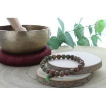 Bracelet Mala en Unakite
