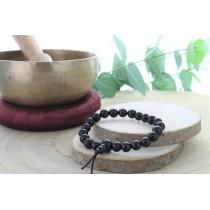 Bracelet Mala en Obsidienne...